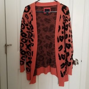 Pink cheetah cardigan